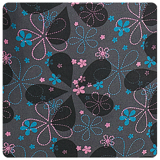 Pretty in Petals - Criss Cross Scrub Top - 323T