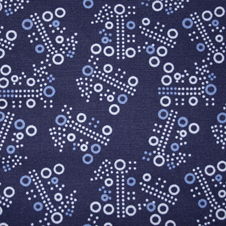 Blue Cheerios - V-Neck Print Scrub Top - 320T