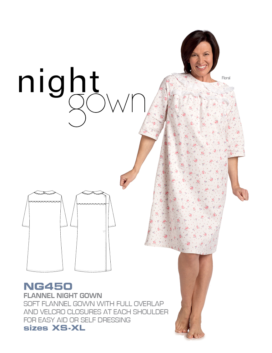 MOBB Medical Wear Flannel Night Gown