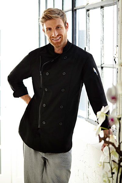 Zipper Closure Chef Coat
