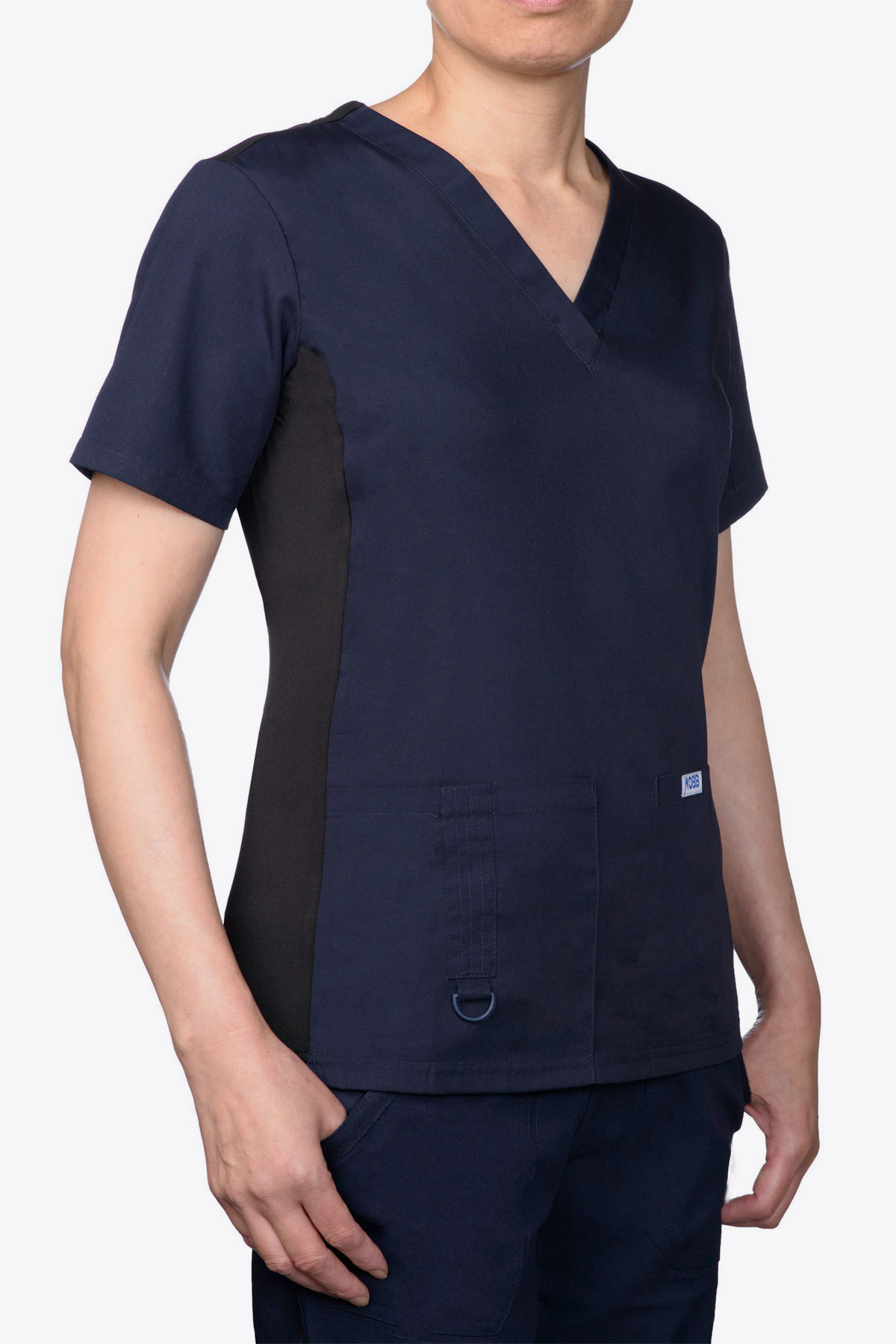 Stretch Back V Neck Scrub Top - 624T