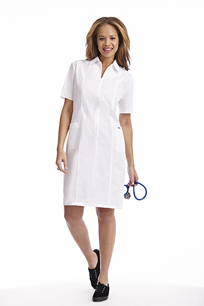 Zip Front Scrub Dress