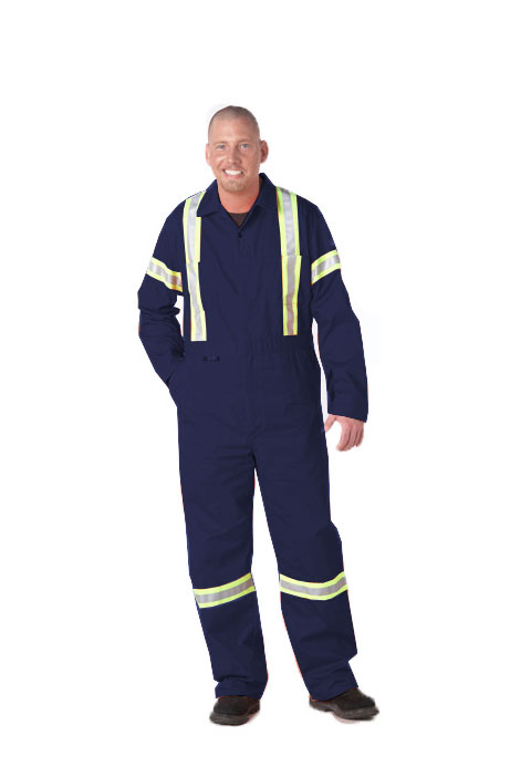 100% Cotton Coverall with Reflective Tape